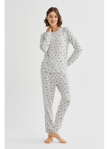 Penti Cute Bunny Pijama Takımı Gri
